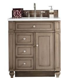 30 inch antique single sink bathroom vanity whitewashed