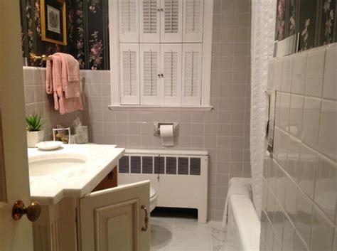 bathroom paint color coordinate  dove gray tile