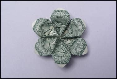 Dollar Bill Flower Origami - 9 best images about money folding on image