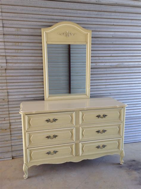 antique 6 drawer dresser with mirror vintage french provincial henry link 6 drawer dresser and