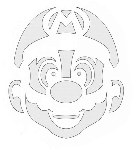Mario Brothers Pumpkin Carving Template mario pumpkin template and pumpkin carving patterns on