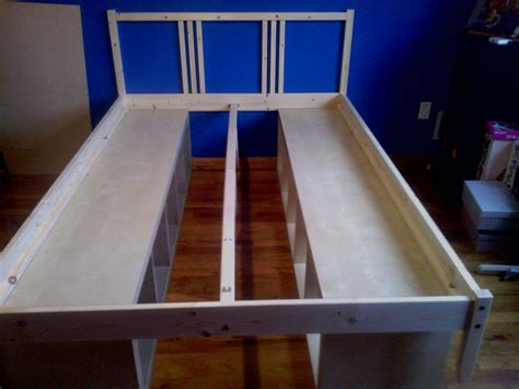bookcase bed frame diy plans diy  build