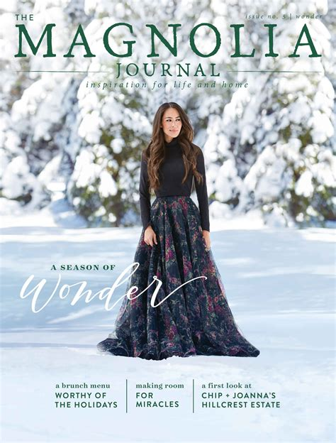 joanna gaines magazine joanna gaines magnolia journal cover shoot in the snow