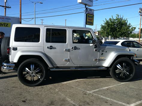Jeep Wrangler On 24s Jeep Wrangler Rent A Wheel Rent A Tire