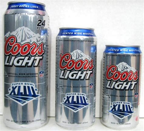 Coors Light Can Sizes new cans page