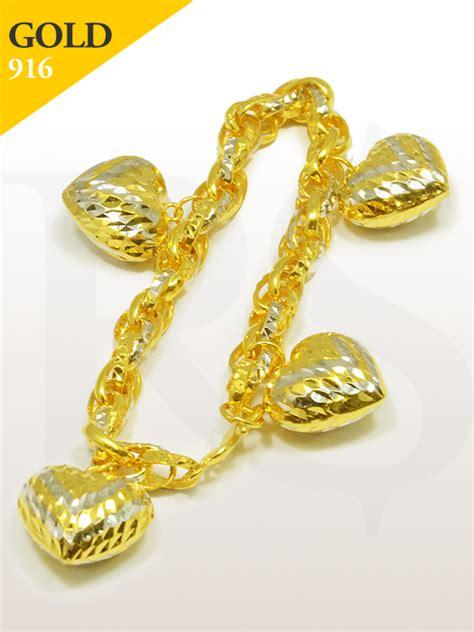 Ck Free Gelang bracelet charms 916 gold 25 65 gram buy silver malaysia