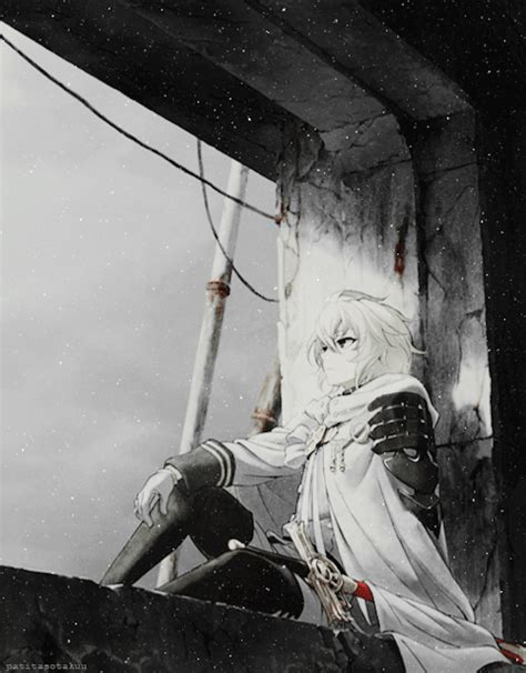 Hq 10977 Collar Gold Shirt Black White mikaela hyakuya anime amino