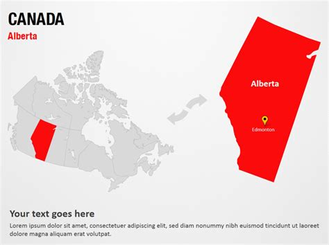 canada powerpoint template image canada map powerpoint template