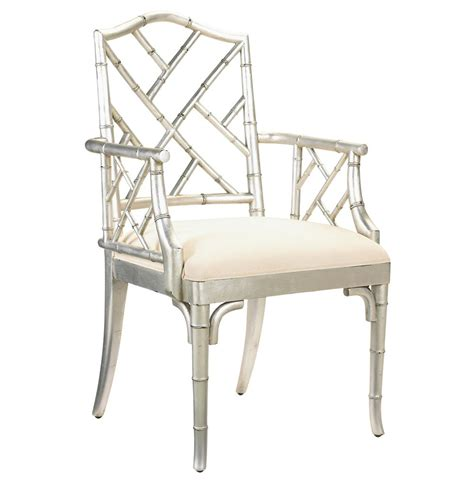 chinese chippendale chair chinese chippendale hollywood regency silver bamboo dining