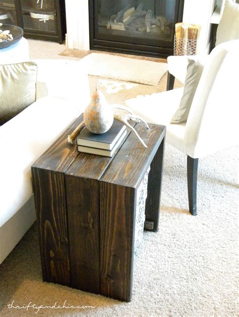 diy side table thrifty and chic diy projects and home decor