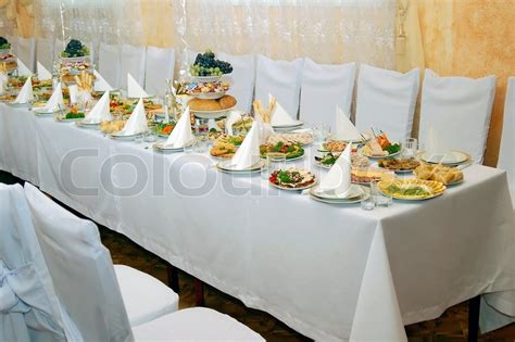 beautifully decorated dinner tables beautifully decorated festive table stock photo colourbox