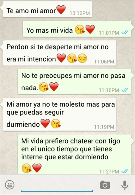imagenes de conversaciones de whatsapp de amor tumblr whatsapp te amo and novio image on we heart it