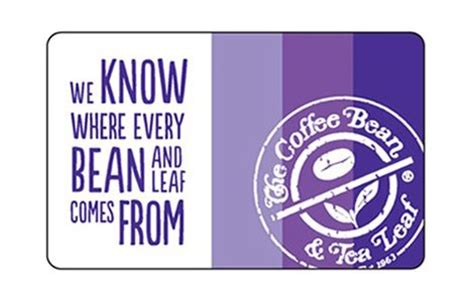 Coffee Bean Gift Cards - the coffee bean tea leaf