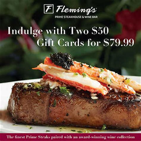 Flemings Gift Card - fleming s 174 prime steakhouse two 50 gift cards