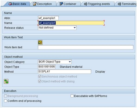 sap workflow task create basic sap workflow