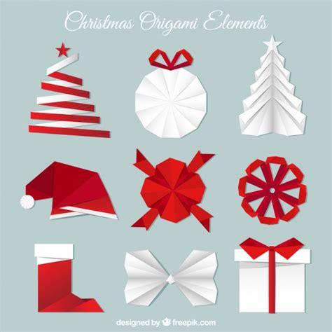 Origami Natal - cole 231 227 o de elementos do natal de origami baixar vetores