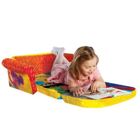 elmo flip open sofa marshmallow furniture children s 2 in 1 flip open foam