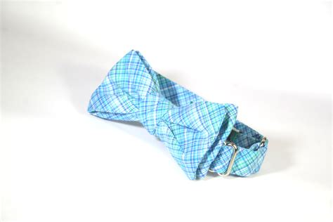 pattern blue tie light blue checkered bow tie created in our batwing