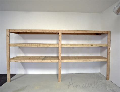 diy storage shelves ana white easy and fast diy garage or basement shelving for tote storage diy projects