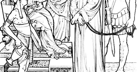 coloring pages jesus before pilate christ before pilate color the bible