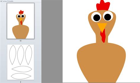 thankful turkey craft template 8 best images of turkey cut out printable thanksgiving