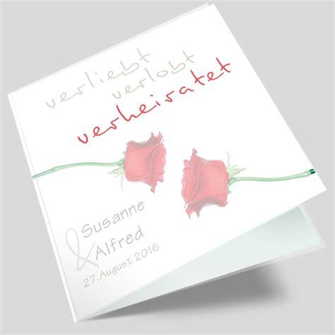 Hochzeitseinladungen Rot by Hochzeitseinladung Paar In Rot