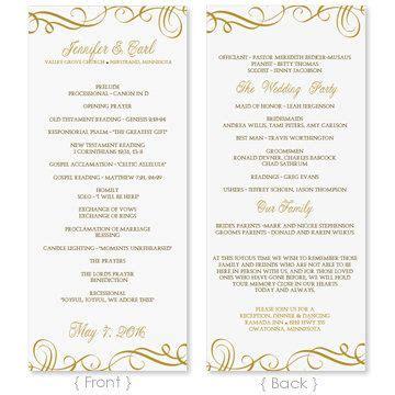 template folded wedding program template programs fan or flat
