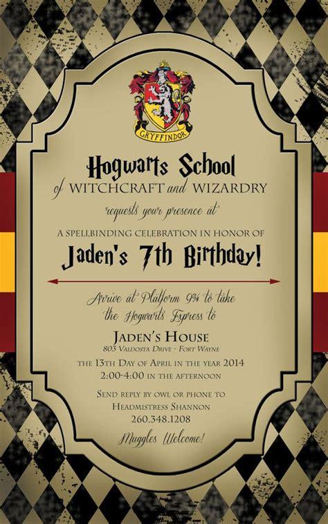 Harry Potter Ticket Invitation Template Free Printable Birthday Invitation Templates Bagvania Hogwarts Birthday Invitation Template