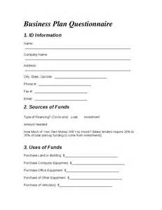 Business Plan Questionnaire Template by Business Plan Questionnaire Hashdoc