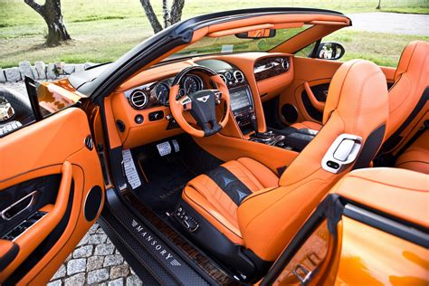 orange bentley interior mansory tries to shock with its 986hp continental gt