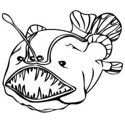 Angler Fish Coloring Page Getcoloringpages Com Angler Fish Coloring Page