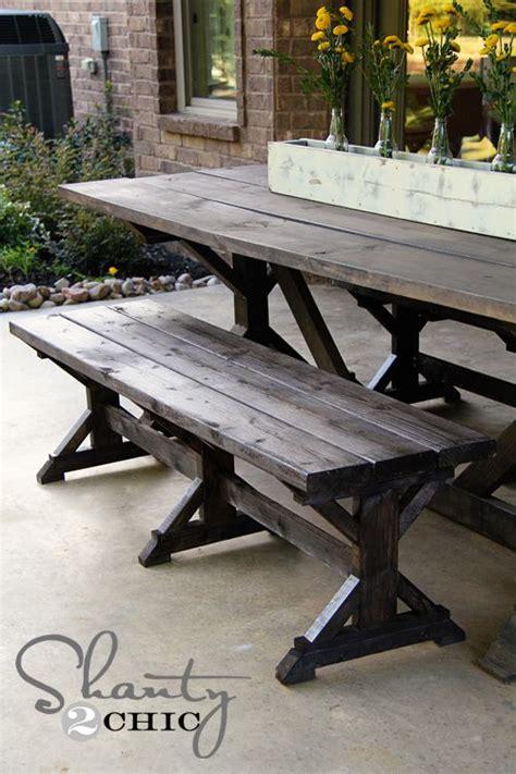 diy bench farmhouse style picnic table plans diy