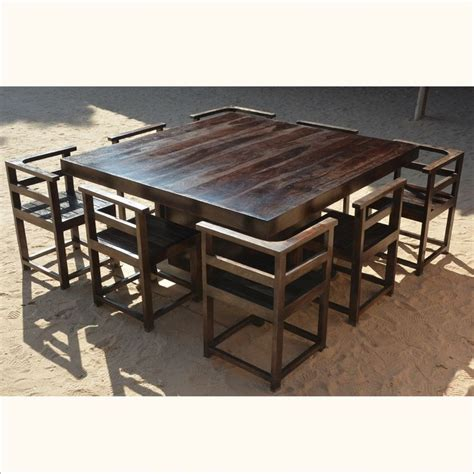 square outdoor dining table best 25 square dining tables ideas on square