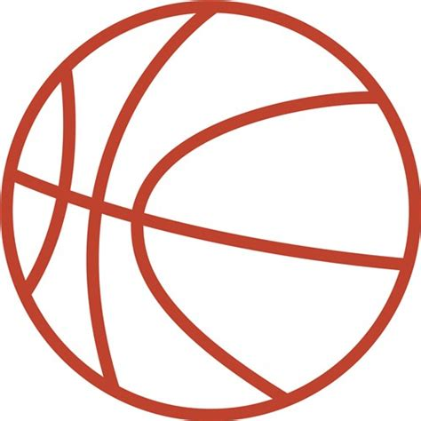 basketball clipart vector basketball outline vector clipart best