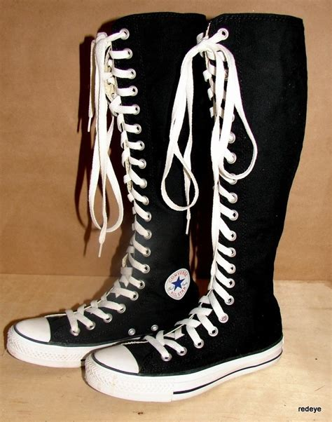chuck black knee high converse shoes womens size 5