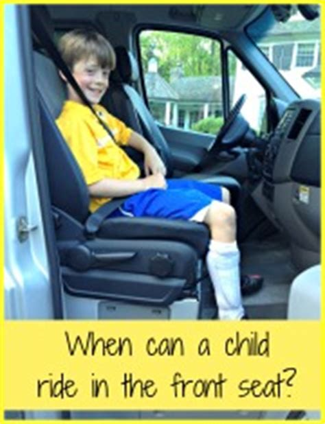 when can a child ride in the front seat of a car momof6