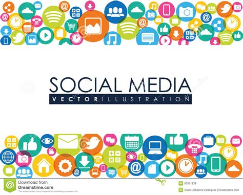 design graphics for social media social media stock vector image 50311838