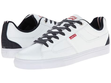 levis shoes for levi s 174 shoes gavin denim white indigo zappos free