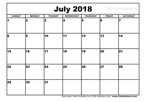 calendar template july 2018 july 2018 calendar printable journalingsage