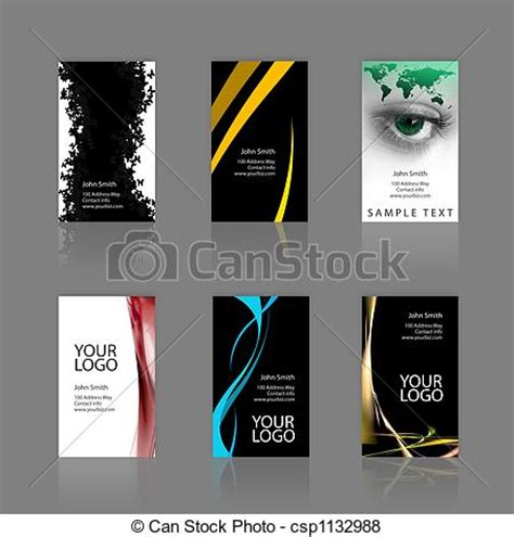 3 5 x2 business card template stock illustration of business cards assortment an