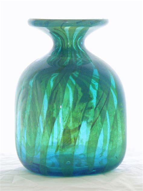 mdina seaweed square vase turquoise blue  atomic home