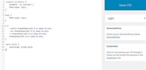wordpress theme editor css simple css wordpress plugins