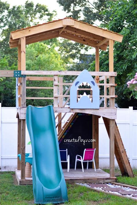 backyard improvements diy outdoor playset a year later created by v
