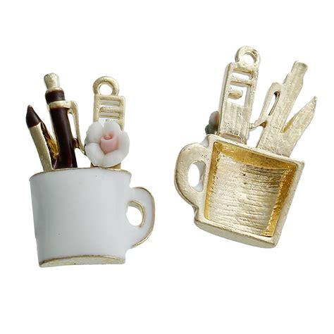 Calendar Pencil Holder Charm enamelled pencil holder charm pack of 4 kookeli craft materials supplies based in