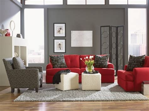 red and gray living room red alert how to decorate with white and red