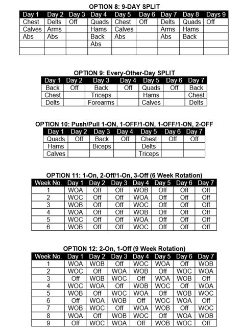 critical bench chart 13 dynamic training frequency options critical bench