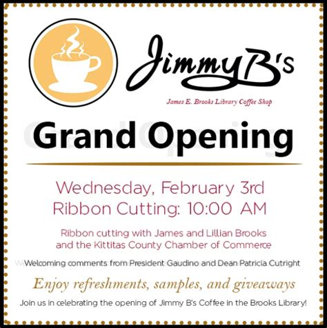 cus notices jimmy b s grand opening set for february