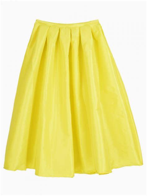yellow midi skater skirt choies