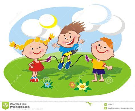 clipart bimbi bambini sul prato inglese illustrazione vettoriale