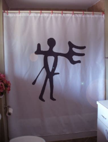 penis shower curtain printed shower curtain man with hand of god petroglyph